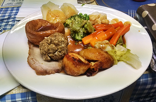 Roast dinner from Dave's after Mablethorpe Marathon
