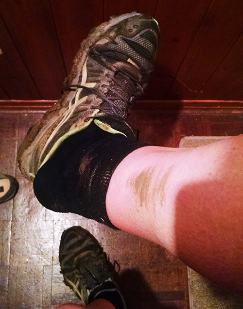 Muddy trail runs