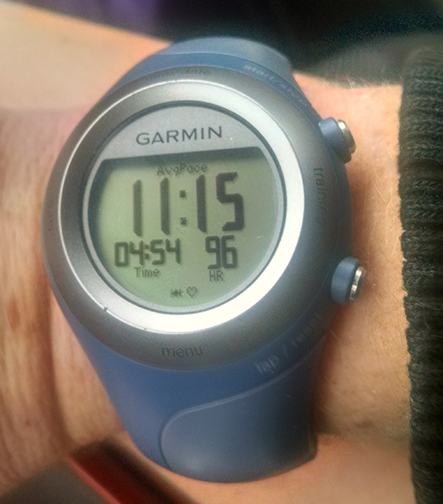 Garmin 405 at Chelmsford Marathon