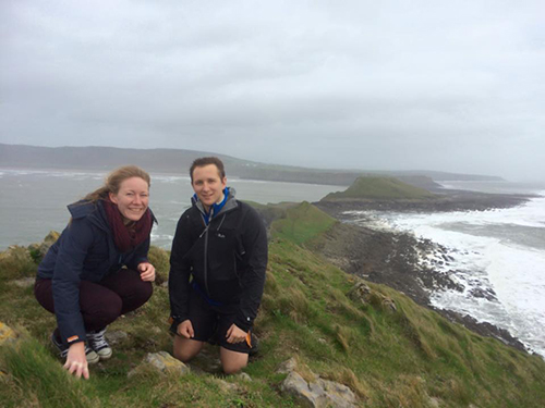 Tom and Me at Worm's Head, Gower