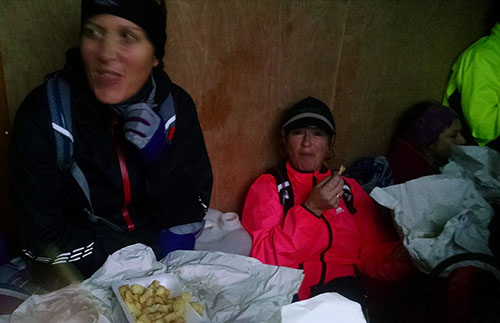 Chips at Gower marathon