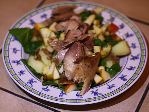 Cook your way to a healthy smile - chicken salad
