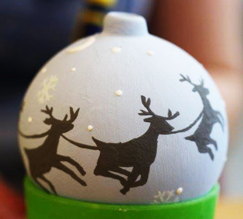 Christmas painted bauble