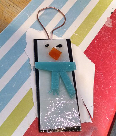 Glass Christmas decoration - penguin