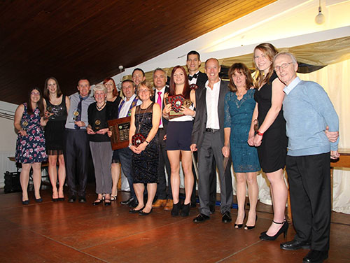 Trophy winners at the WDAC awards evening
