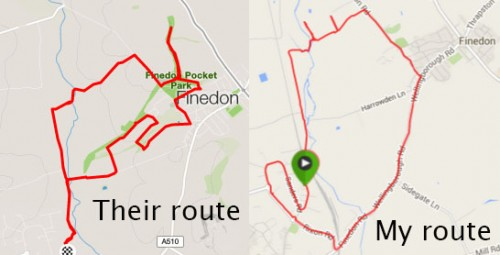 2 routes in Finedon