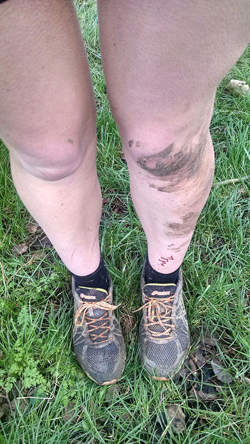 Mud and blood at cross-country