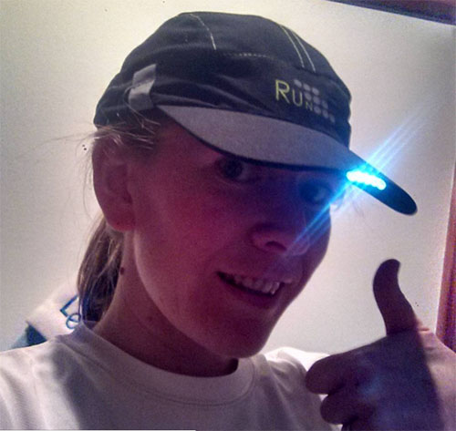 New running cap with inbuilt light from Aldi