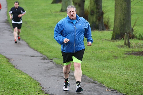 Andy at Northampton parkrun