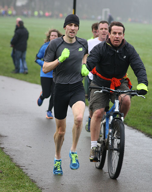 Andrew Baddeley at Northampton parkrun
