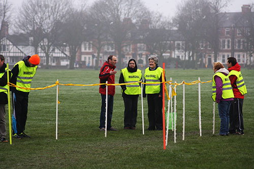 Marshals at Northampton parkrun