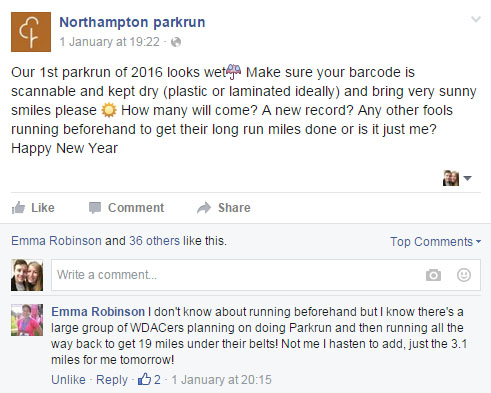 Northampton parkrun then home