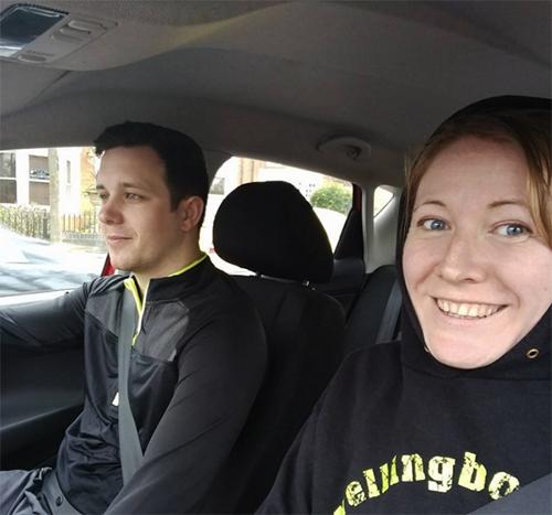 Dan and Me at parkrun