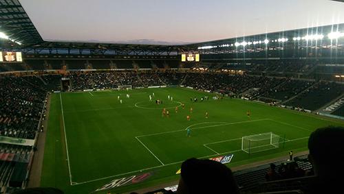 Wolves playing at MK Stadium