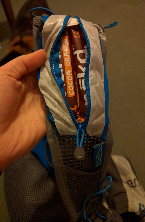 Nakd bars in my Ultimate Direction PB vest