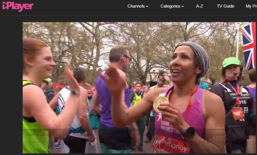 Kelly and Kelly at the London marathon