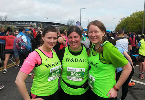 Yasmin, Laura and Me at MK half marathon