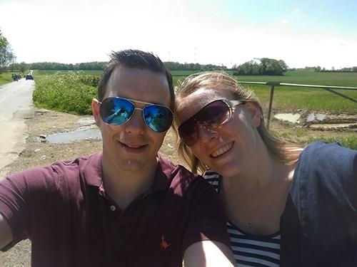 Dan and I on the Waendel Walk