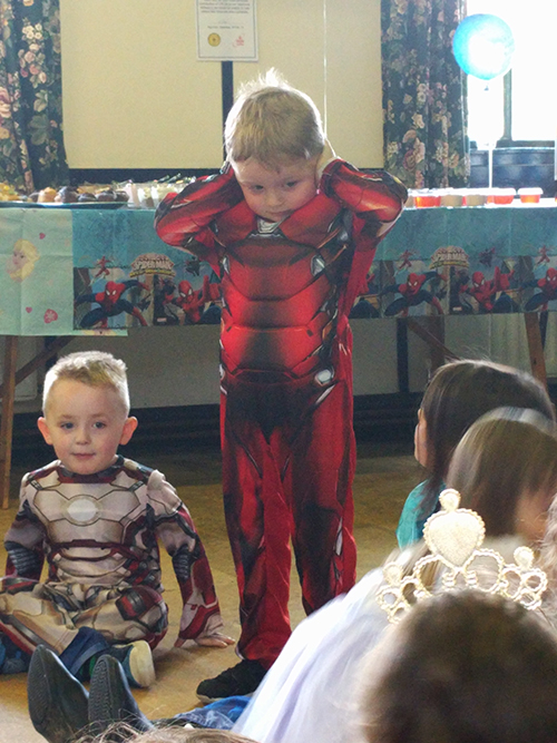 Jenson's fourth birthday party - superheroes