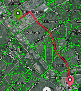 Milton Keynes 5k route