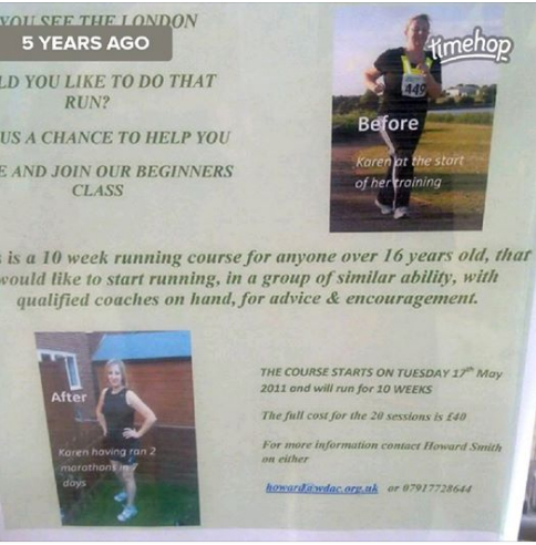 Running club poster