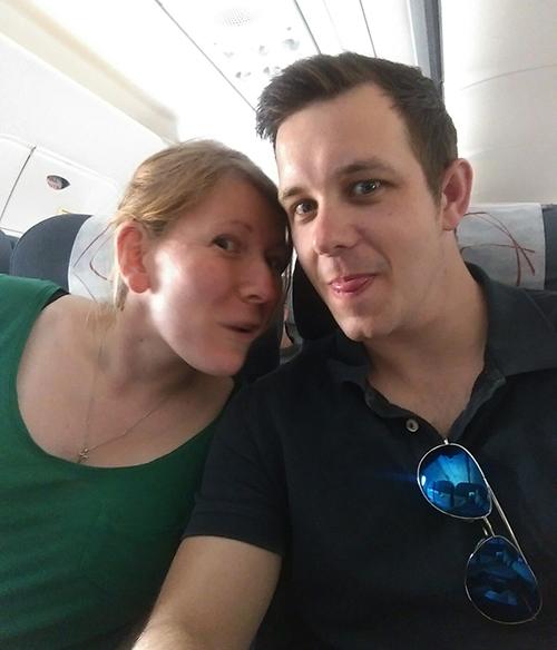 On the flight to Prague