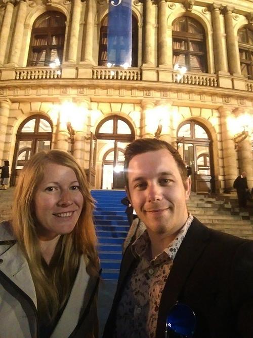 Dan and me at the Rudolfinum, Prague