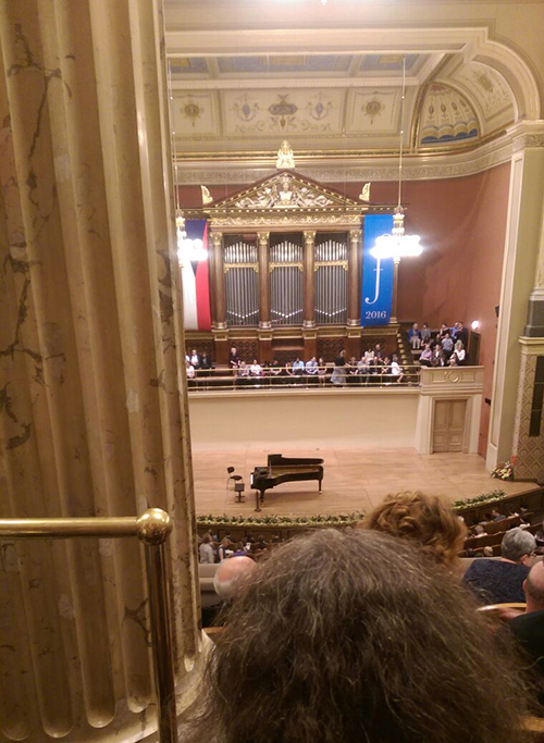 Our view at the Rudolfinum, Prague