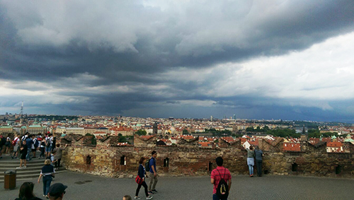 Thunder clouds in Prague