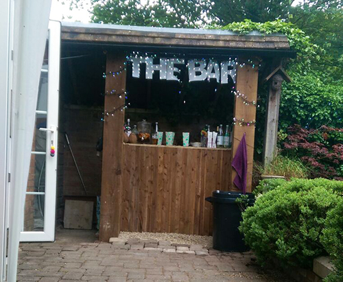The outside bar at Rich's birthday