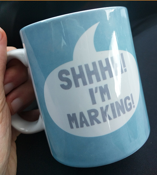 Shhhh I'm marking teacher mug