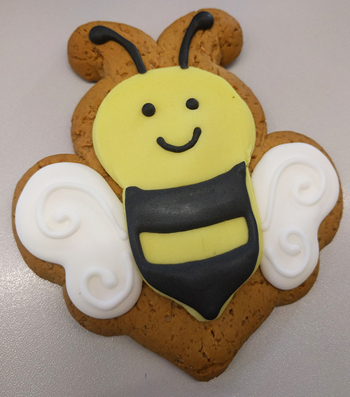 Bee happy bee cookie