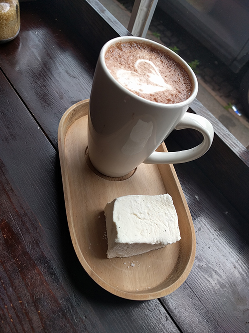 Hot chocolate from Magee Street Bakery in Northampton