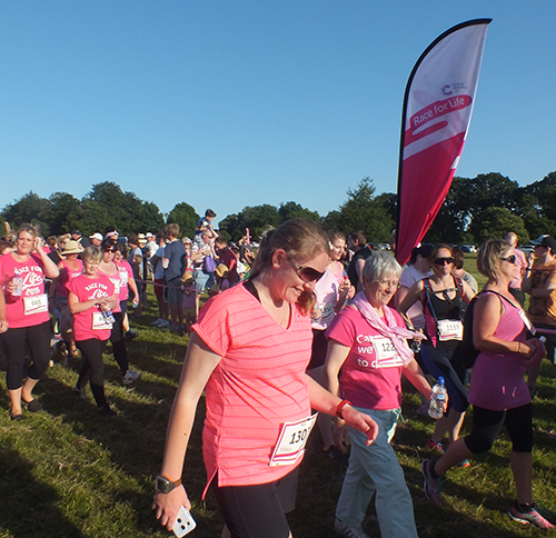 Houghton Hall Race4Life 2016 with Mum