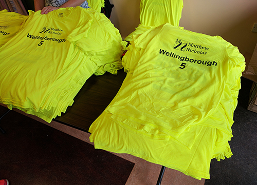 Polyester technical tops at the Wellingborough 5