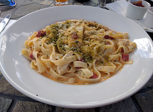 Chicken and chorizo tagliatelle from Beckworth Emporium