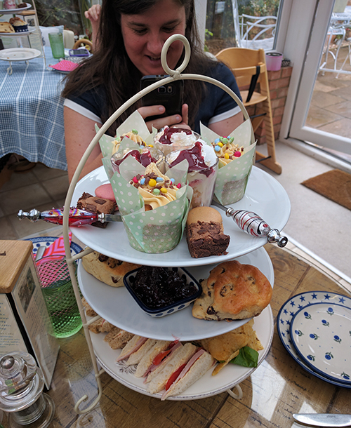 Afternoon tea at Jeyes, Earls Barton