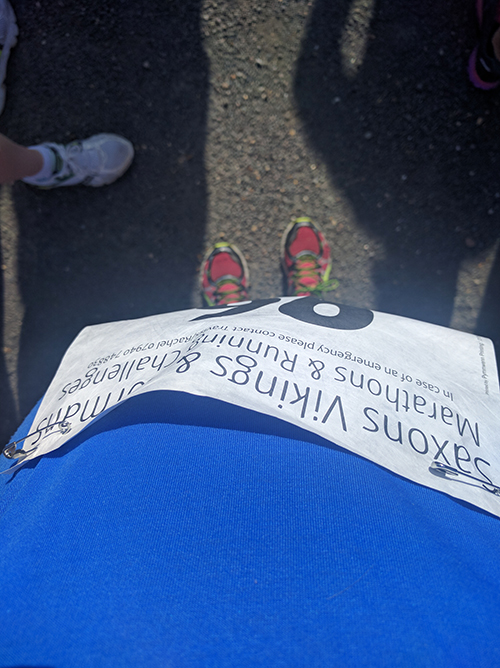 Race number at the Cakeathon race