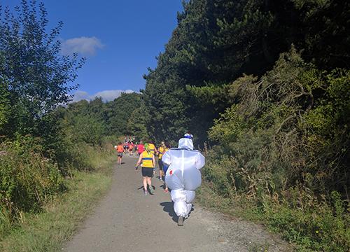 Marshmallow lady at the Cakeathon race