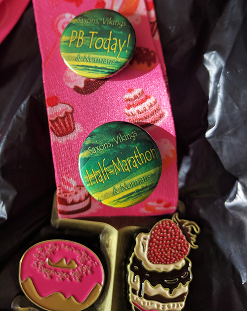 Medal at the Cakeathon race