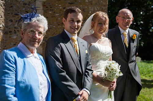 Our wedding - Dan and me with my parents