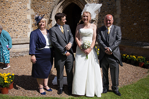 Our wedding - Dan and me with his parents