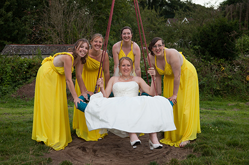 Our wedding - Me with my bridesmaids