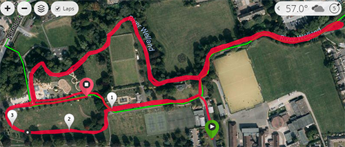Market Harborough parkrun course