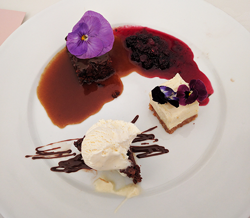 Wedding trio of desserts