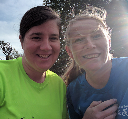 Laura and me at the first Kettering parkrun