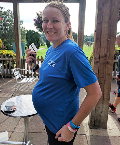 Running Kettering parkrun at 39 weeks pregnant