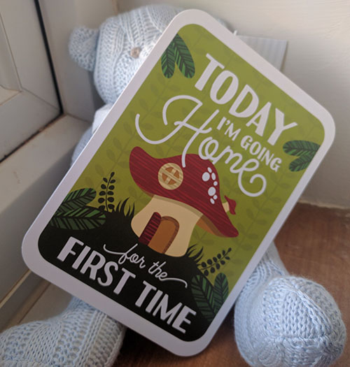 Today I am going home for the first time card