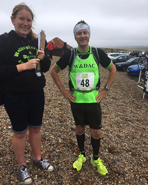 Neil and I at Cley for the Round Norfolk Relay