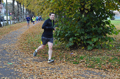 Dan on his way to a PB at Northampton parkrun